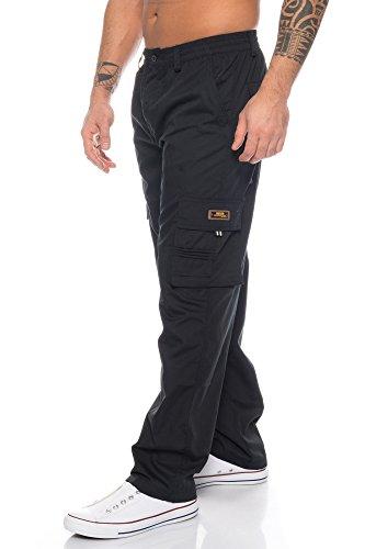 Benk Homme Pantalon Benk Cargo Pantalon Noir zwPqW