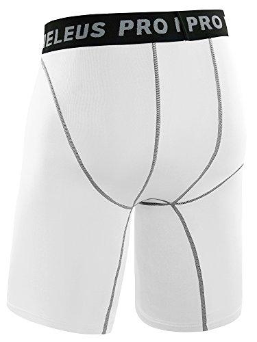Neleus Men's 3 Pack Compression Short,047,Black,Grey,White,US XL,EU 2XL by Neleus (Image #8)