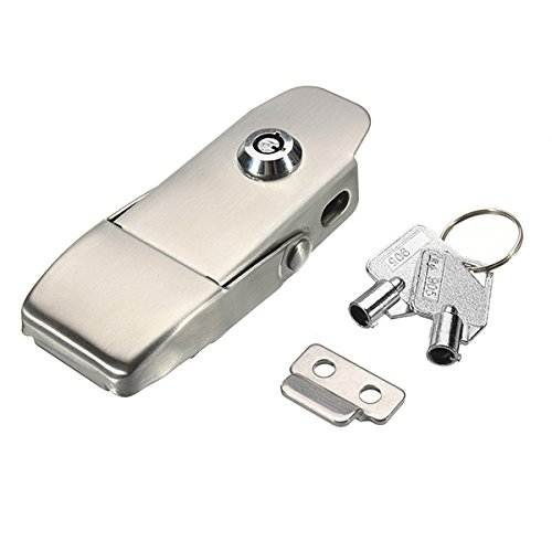 Vivona Hardware & Accessories 304 Stainless Steel Concealed Toggle Latch Safety Catch Key Locking Spring Loaded