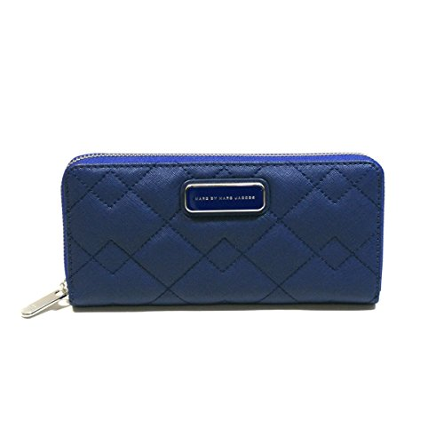 Marc By Marc Jacobs Mineral Blue Leather Zip Around Wallet #M0005394 by Marc by Marc Jacobs