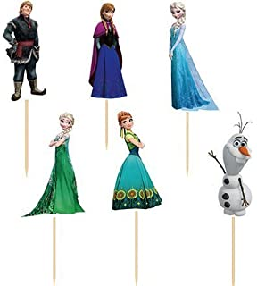 Amazoncom A Birthday Place Disneys Frozen 12 Count Cupcake