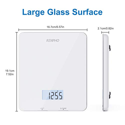 RENPHO Digital Food Scale, Kitchen Scale for Baking, Cooking and Coffee with Nutritional Calculator for Keto, Macro, Calorie and Weight Loss with Smartphone App, White 7