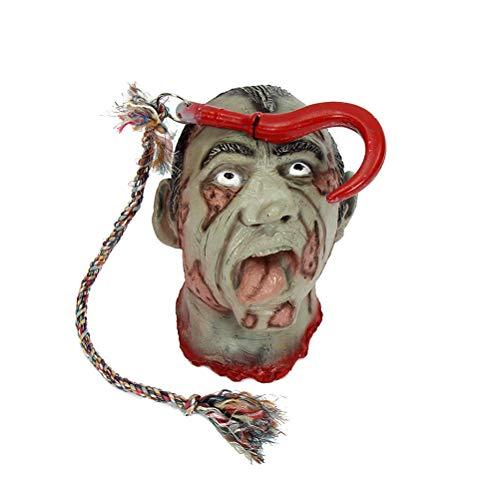 TOYANDONA Halloween Scary Head Prop Thriller Head Bloody Broken Head for Haunted House Horror Terror Theme Cosplay Costume Party Decoration]()