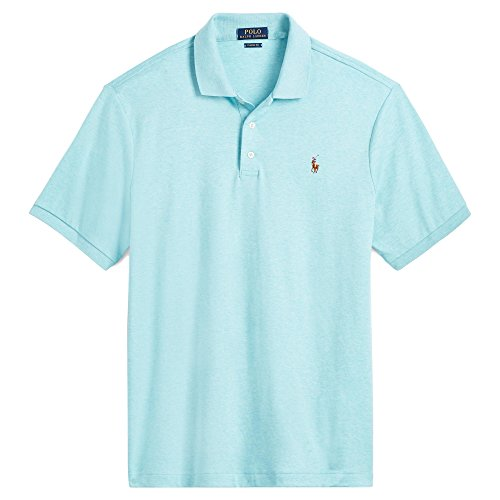 Polo Ralph Lauren Men's Big and Tall Short Sleeve Pima Soft-Touch Polo Shirt (3X Big, Watch Hill Blue - Big Polo Watch