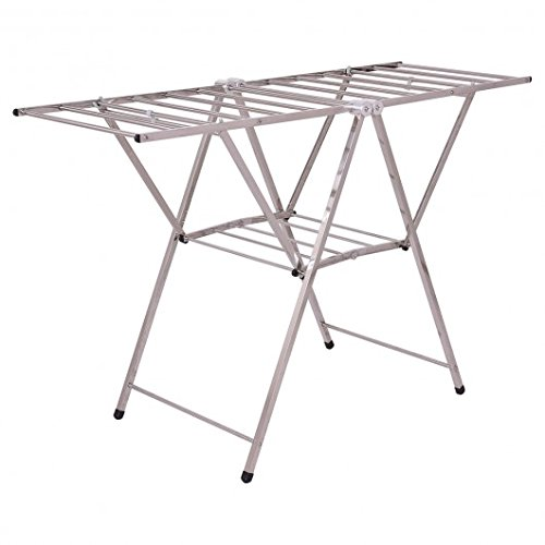"""Stainless Steel 58"""" Folding Clothes Drying Rack Drying Rack"""