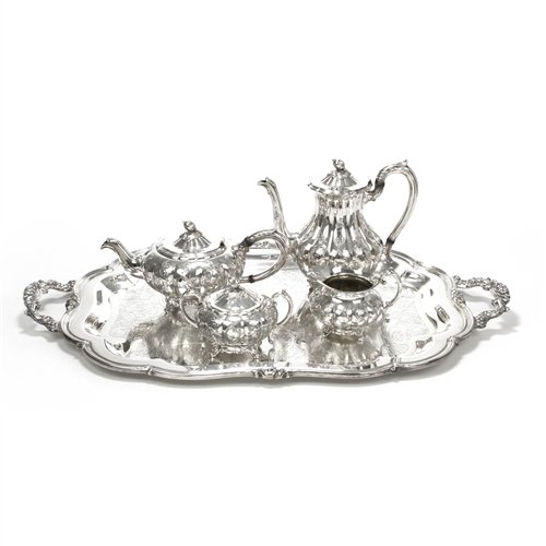 Melon by Community, Silverplate 5-PC Tea & Coffee Service (Coffee Set Silverplate)