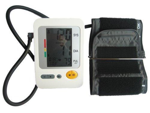 Lotfancy® (FDA CE approuvé) Santé Sense entièrement automatique Haute numérique sang de bras pression / Heart Beat compteur surveiller Grand écran LCD (affichage) propose + (120 mémoires, indicateur OMS)