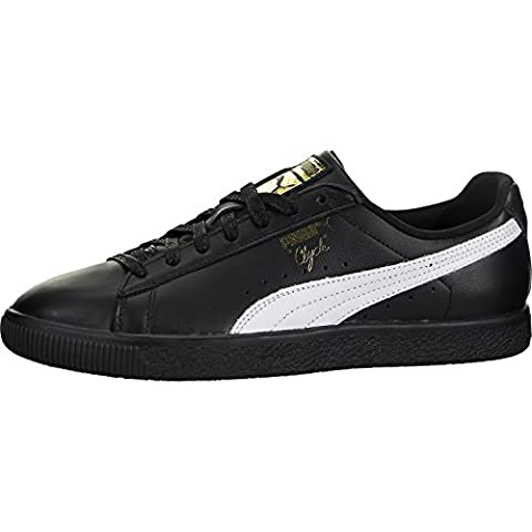 PUMA Select Men's Clyde Sneakers, Black/White/Gold, 9 D(M) US