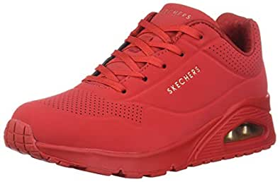 Skechers Women's UNO-Stand ON AIR Sneaker, Red, 5 M US