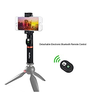 Viewflex Smartphone Video Grip VF-H3 Full Metal Bluetooth Remote Control Handle grip With Tripod mount Adapter for IPhone X 8Plus 7 6s Samsung Galaxy S8+ S8 Note 3 Huawei (Bluetooth Handle Grip)