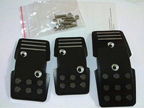 (SanguineSunny Sunny Car New Universal Aluminum Car MT Foot Pedals Pad Clutch Brake Non-Slip Manual Black)