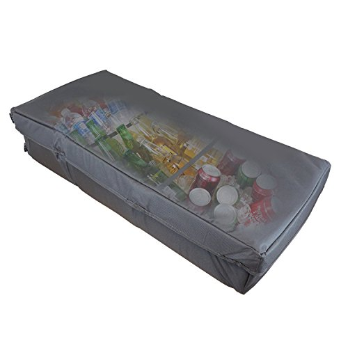 Duraviva Insulated Food & Drink Party Serving Tray Portable Foldable Cooler for Beverages, Buffet, Picnic, BBQ, Salad Seafood Bar by Duraviva (Image #2)