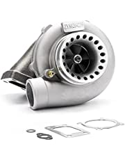 maXpeedingrods T3 T4 T04E Turbo Charger 400+HP, T3/T4 .57 A/R 5-Bolt Flange Universal Turbocharger Oil Cooled for 1.5L-2.5L engines 7psi-21psi