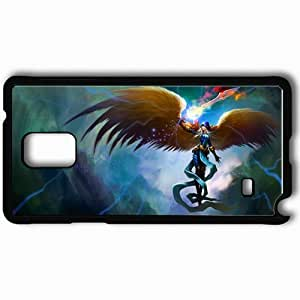 Personalized Samsung Note 4 Cell phone Case/Cover Skin Angel Black