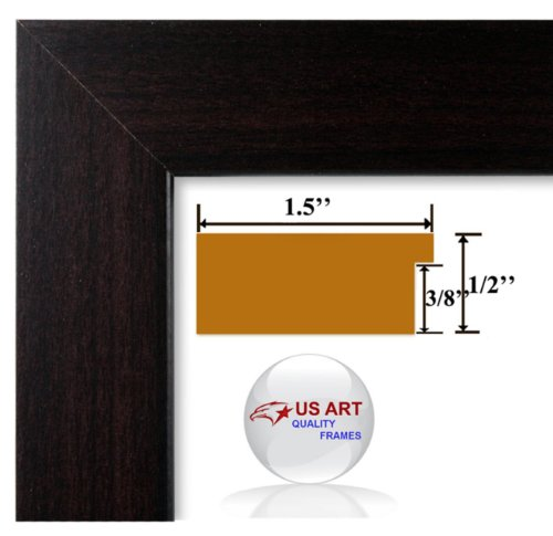 18x24 Elegant 1.5 inch Columbian Coffee Dark Brown Finish wall decor Picture Poster Frame Wood Composite Mdf #Columbian -