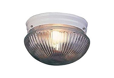 Volume Lighting V7056-6 1-Light Flush Mount Ceiling Fixture, White