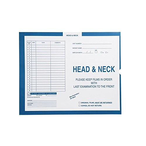 Head & Neck, Process Blue - Category Insert Jackets, System I, Open End - 14-1/4'' x 17-1/2'' (Carton of 250)