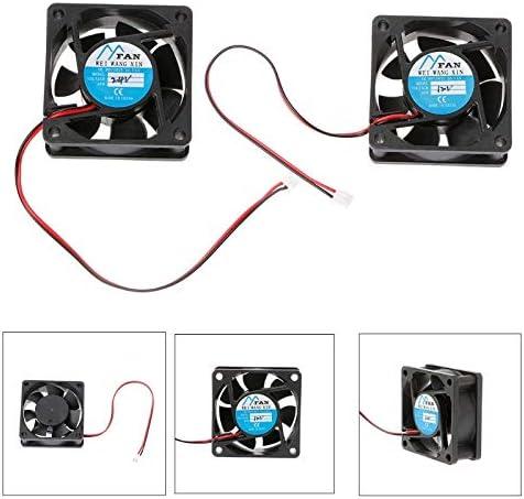 Rarido 60mmx60mmx25mm DC 12V 24V 2-Pin Cooler Brushless PC CPU Case Cooling Fan 6025 Blade Color: 24V