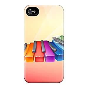 Mtwilliam Design High Quality Rhythmic Colorful Piano Cover Case With Excellent Style For Iphone 4/4s