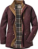 quilted plaid jacket - Legendary Whitetails Ladies Saddle Country Barn Coat (Large, Rusty Maroon)