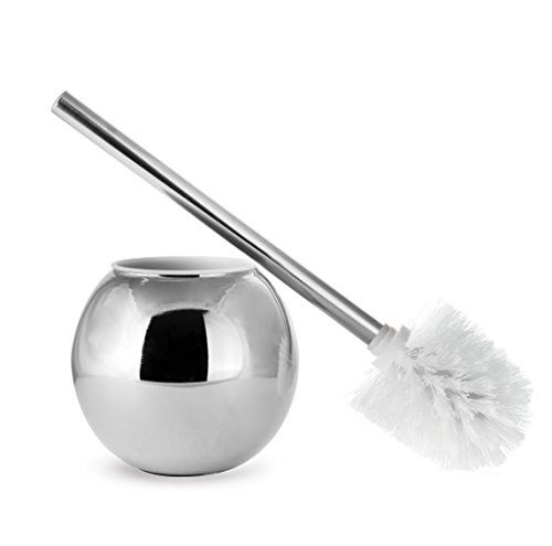 AMG and Enchante Accessories, Toilet Brush and Ball Holder, TB100001 CHR, Chrome