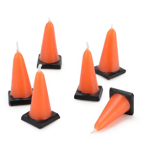 BirthdayExpress Construction Cone Molded Candles