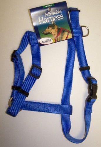 OmniPet Kwik Klip Adjustable Nylon Pet Harness, Blue, Medium