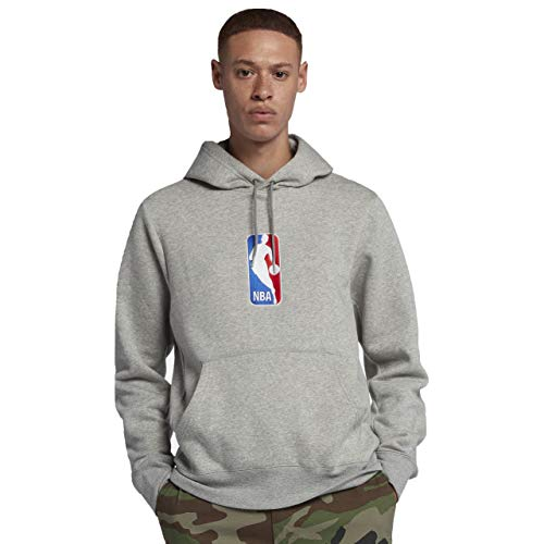 (Nike SB x NBA Icon Hoodie (Dark Grey Heather/White, Medium))