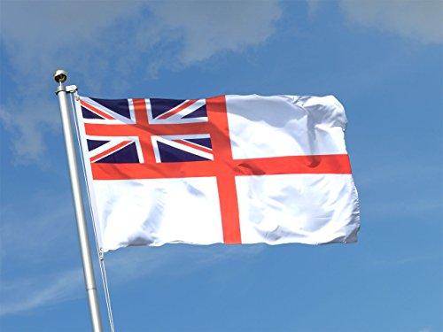 3X5 British Historical Naval Navy Ensign White Squadron Flag 3'X5' ()