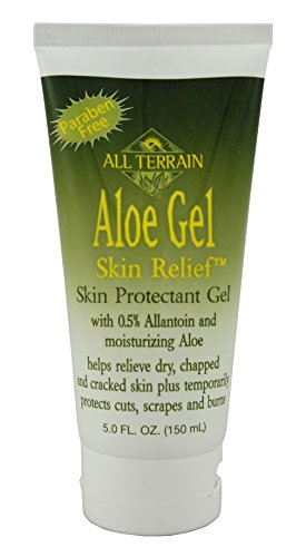 All Terrain Natural Aloe Gel Skin Relief, Natural First Aid Skin Relief Gel for Burns, Sunburns, Scrapes, and Cuts, Paraben Free