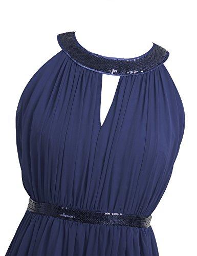 1f3090e86dc0c5 ... Tiaobug Damen Elegant Festlich Chiffon Sommer Kleid Partykleid Hochzeit  Langes Abendkleid Cocktailkleider 36 38 40 42 ...