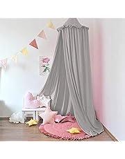 Minetom - Dosel para cama de bebé, para niños, gasa colgante, para dormitorio, vestidor, lectura, tiempo de decoración para cama y dormitorio, altura 240 cm