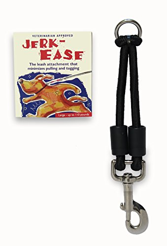 Jerk-Ease Bungee Dog Leash Extension - Large Black (Best Anti Pull Dog Lead)