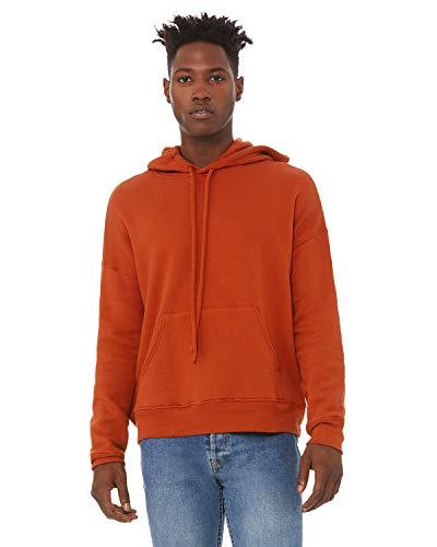 - Bella + Canvas Unisex Sponge Fleece Pullover DTM Hoodie XL BRICK