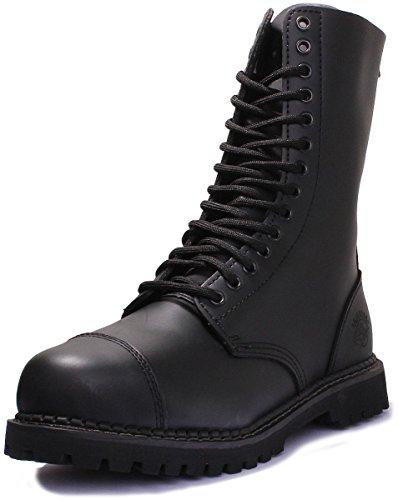 Grinders Herald CS Steel Toe 14 Eyelet Lace up Boot (8 US, Black) (Grinders Toe Steel)