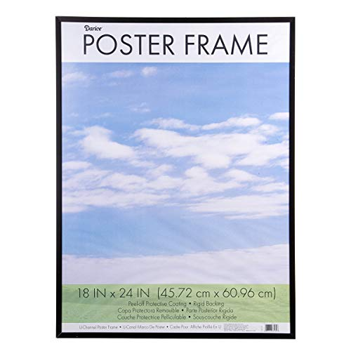 Dax 18x24 Flat Black Environmentally Friendly Wood Composite Wall Display Poster Frame