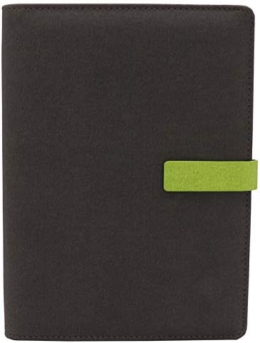 TSY Notizbuch Nachfüllbar, PU Leder Weiche Abdeckun Personal Organizer Planer, Ringbuch Reise Tagebuch mit Magnet-Verschluss Stifthalter Steckplätze für Karten und 160 Seiten (Dunkelgrau, A5)