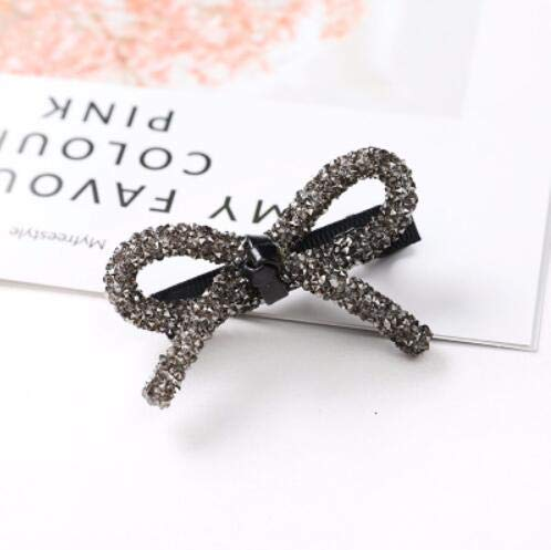Sweet Student Rhinestone Bowknot Baby Girl Side Clips Kids Hair Accessories Green