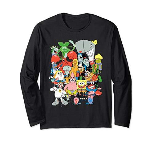 Spongebob Character Pile Up Long Sleeve T-Shirt -