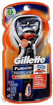 Gillette Fusion ProGlide Power Razor - Each, Pack of 3