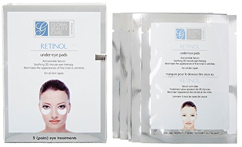Global Beauty Care Premium Retinol Anti-Wrinkle Eye Pads (Includes 5 Sets) (Global Care)