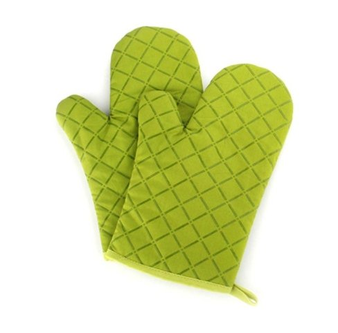 BBQ Gloves Cooking | Best Versatile Heat Resistant Oven Gloves | Lifetime Replacement | Insulated Silicone Oven Mitts For Grilling | Waterproof | Full Finger, Hand, Wrist Protection (Green)