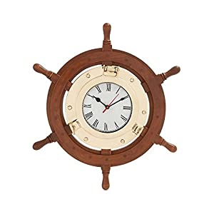 41O5eWZVu9L._SS300_ Best Ship Wheel Clocks