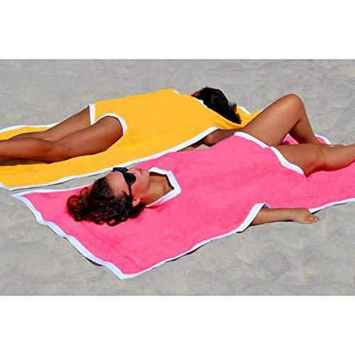 Heartbeat Beachwear Towel Bikini Sunscreen Shoulder Shawl Towel Mat Combo-Outfit for Summer (Pink)