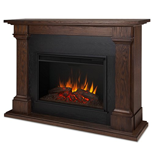 Real Flame 8011E CALLAWAY Grand Electric Fireplace, Large, Chestnut Oak For Sale