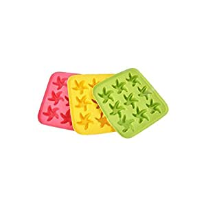 Riverbyland Starfish Shape Silicone Ice Cube Trays Assorted Colors Set of 3