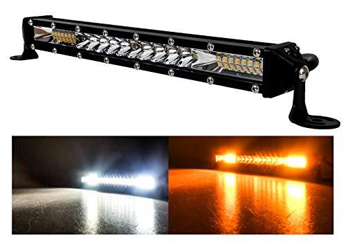 M-Series Ultra Slim High Output Osram LED Mini light bar (10 inch, Amber & White LED)