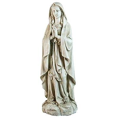 "Northlight Praying Religious Virgin Mary Outdoor Garden Statue 27.75"" Gray"
