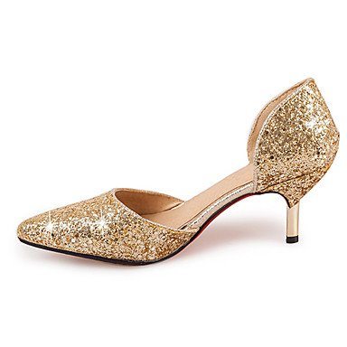 7 5 Sequin Fall Summer Women'S CN37 Sandals Spring US6 Synthetic Heel EU37 Evening Dress Zormey Stiletto Silver Gold UK4 amp;Amp; Wedding Party 5 5 xF4UOqW