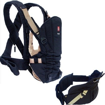 Okkatots Baby Carrier System Black with Tan Trim, Baby & Kids Zone